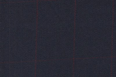 Navy with Burgundy Check