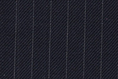 Navy with Ivory Pin Stripe