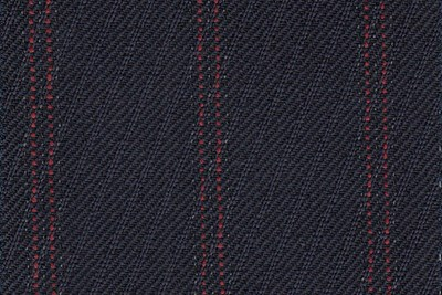 Navy Rhadame Twill with Red Stripe