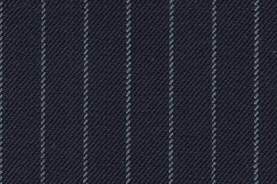 Navy with Sky narrow chalk stripe