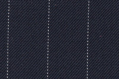 Navy with white pin stripe