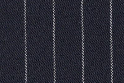 Navy with white chalk stripe