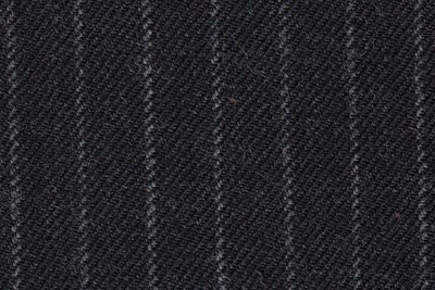 Dark Grey with narrow chalk stripe