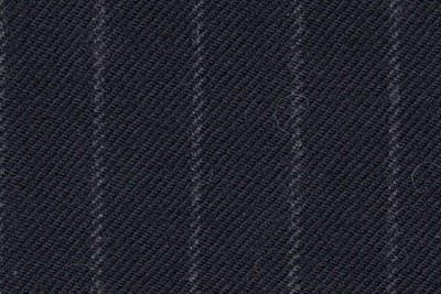 Navy with grey chalk stripe